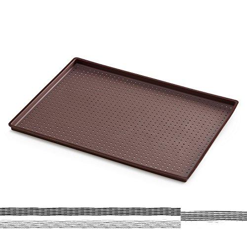 Lékué 0231241M10M067 Tapis de Pizza Rectangulaire Silicone Multicolore 40 x 30 cm