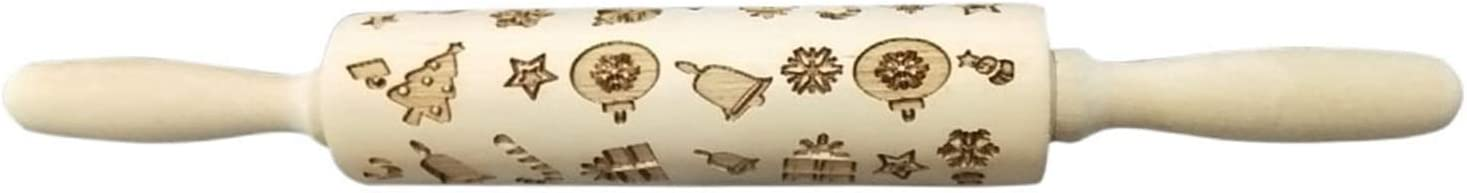 Christmas Embossing Rolling Popular Pin Baking Biscuit Fo Long-awaited Noodle Cookies