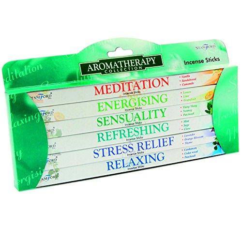 Stamford 37147 Aromatherapy Incense Pack, Multi-Fragrance, 6 Packs x 8 Sticks