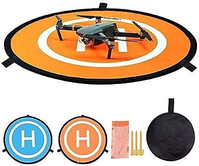 Drone Landing Pad, Mavic Mini Accessories UAV Landing Pad Foldable Drone Landing Pad Portable Landing Mat for RC Drones Helicopter, PVB Drones, DJI Mavic Pro Phantom 2/3/4 Pro, Antel Robotic, 3DR Solo by Toumett