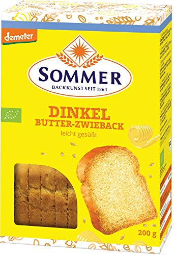 Sommer & Co. Bio Demeter Dinkel Butter-Zwieback (6 x 200 gr)