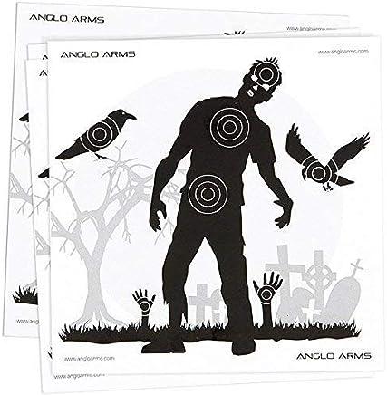 New Pack of 50 Zombie Paper Shooting Practice Air Gun Targets 14 x 14cm