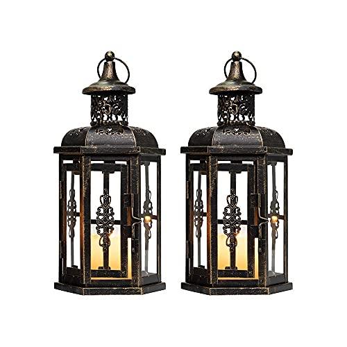 JHY Design Set di 2 Lanterne decorative-25 cm Alto...