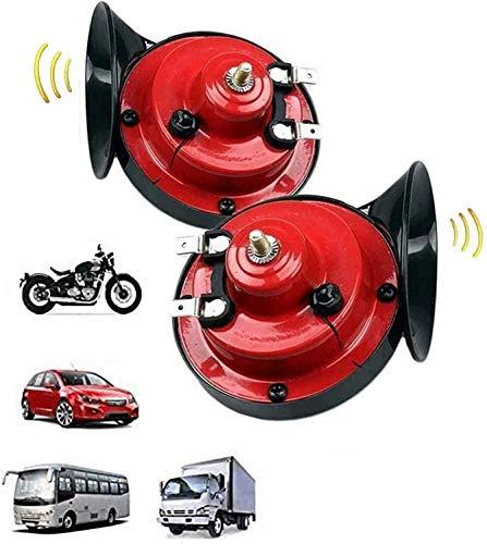 MAQRLT 300dB súper Ruidoso Tren Cuerno para camión Tren Barco Coche Aire eléctrico Caracol Cuerno Simple, 12V Impermeable Caracol Cuerno de Caracol para Camiones, automóviles, Motocicleta