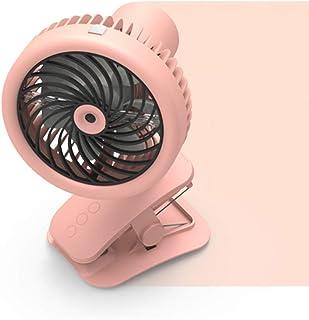 LFYPSM Radiador Telescópico Plegable Ventilador De Niebla Portátil Ventilador De Clip De Alta Velocidad Ventilador De Escritorio Recargable De Agua,Pink