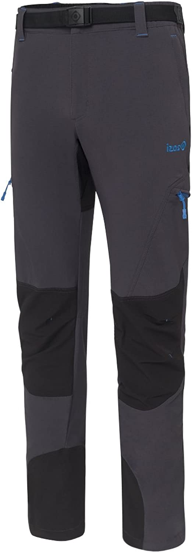 (Small, Dark Grey Black) - Izas Men's Espes Mount Stretch Pants