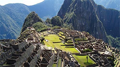 WACYDSD Pintar por números Machu Picchu Peru Paisaje Pintur