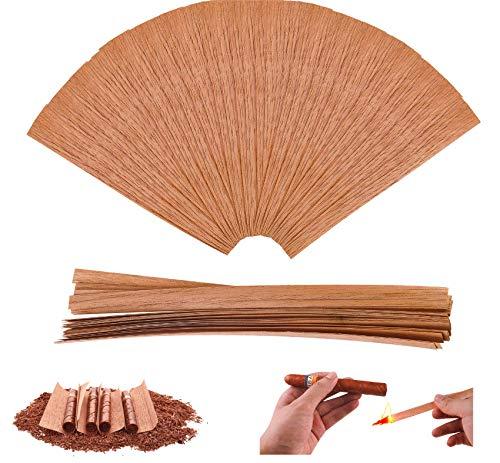 Kocent 100PACK Cedar Lighter for Cigars,Spanish Cedar Wood Veneer Lumber Strip Chip, Cigar Lighting and Pipe Smoking AssessoriesA Great Way toDivide orLight Up Cigars.