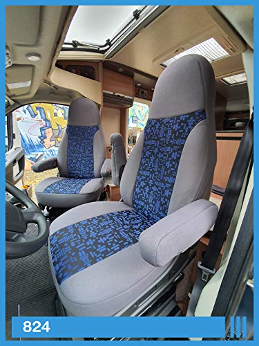 Maß Sitzbezüge kompatibel mit Wohnmobil Fahrer & Beifahrer FB:824