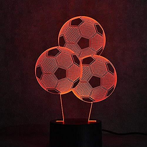 3D Night Light Fútbol SportsRoom 7 Colors Sensor Room Decoration Bedroom Lights Led Night Lights for Children Kids Baby