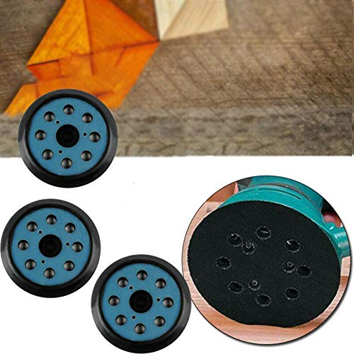 PanDada - Juego de 3 bandejas de lijado de alta calidad, 8 agujeros, bucles y gancho de protección para lijadoras eléctricas Makita BO5021K
