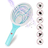 Loowoko Electric Fly Swatter, Fly Killer and Zapper Racket Best for Indoor