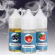 E-liquid Rainlax 3 X 30ml Premiumset Früchte E liquids – Blaubeere, Erdbeere, Wassermelone, VG/PG 50/50, Hergestellt für E-Zigaretten und E-Shisha - 0,0 mg Nikotin