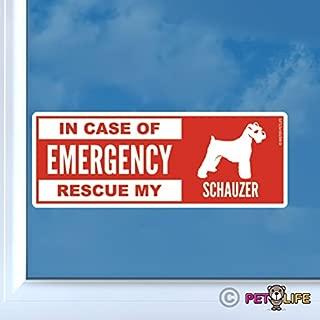 in Case of Emergency Rescue My Schnauzer Sticker Vinyl Auto Window Dog Safety