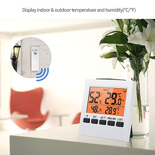 STHfficial Weerstation, draadloos, voor binnen en buiten, lcd-thermometer, digitale hygrometer, luchtvochtigheid, meter, thermoregolator