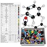 Belissy 267 PCS Kit de Estructura inorgánica Molecular Molecular Atom Link Model Set para Profesor de Estudiante