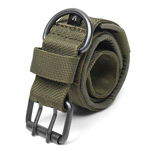 SGerste - Collar táctico de nailon para perro, militar, ajustable, con hebilla de metal en forma de D, talla L