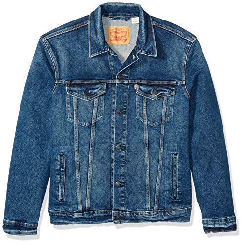 Levi's Herren Big & Tall Trucker Jacket Jeansjacke, Colusa/Way Stretch, Large Hoch