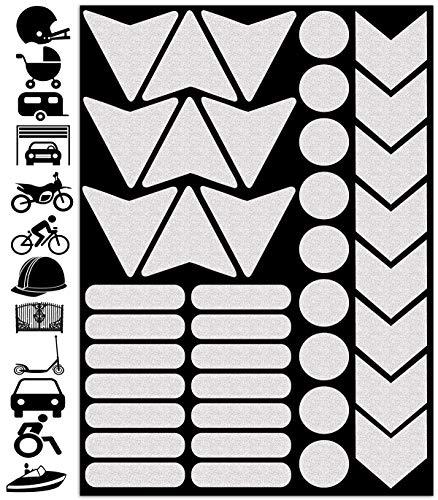Biomar Labs® 40pcs Blanco Kit de Pegatina Cinta de Advertencia Reflectiva Reflectante...