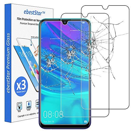 ebestStar - [Lote x3 Cristal Templado Compatible con Huawei P Smart 2019 Protector de Pantalla, Película Vidrio Protectora Ultrafina, Dureza 9H, Sin-Burbujas [Aparato: 155.2 x 73.4 x 8mm, 6.21'']