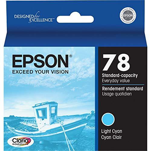 Epson T078520 Artisan 50 Stylus Photo R260 280 380 RX580 595 680 Ink Cartridge (Cyan) in Retail Packaging
