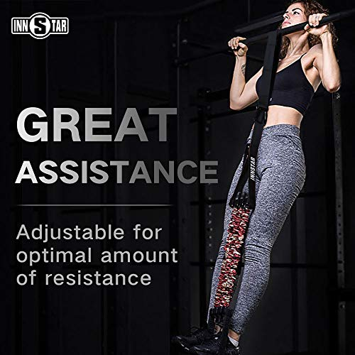 INNSTAR Pull up Assist Band System Adjustable Anti Snap Chin Up Assistance Elastic Resistance Band...