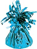 amscan Ballongewicht Folie 170 g, Kunststoff, Babyblau, 12