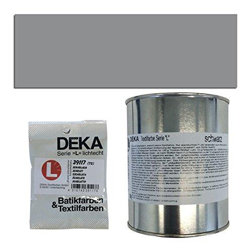 CREATIV DISCOUNT NEU DEKA-Textilfarbe Serie L, 10g, Dunkelgrau