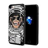 チンパンジー 宇宙人 ゴリラ スマホケース IPhone8 ケース IPhone7 ケース おしゃれ 個性的 耐衝撃