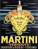 Ecool Martini Vermut Rossi Torino Retro Shabby Chic - Placa de Metal para Pared con imán para Nevera