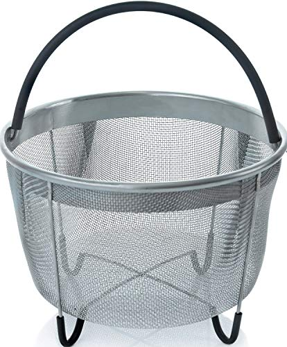 Insert Basket 6Qt Stainless Steel Steamer Basket with Handle for Instant Pot Accessories Fits Most Pressure Cookers - Steaming Vegetables,Eggs