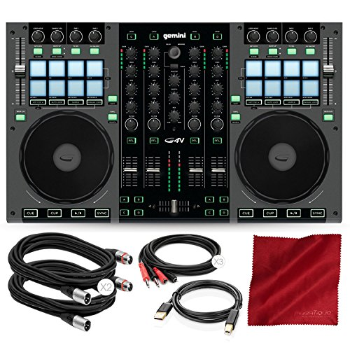 Best Review Of G4V 4- Channel Virtual DJ Controller with Cables and Basic Bundle
