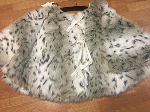 34th & Pine Luxury Polar Plush Faux Fur 52' Christmas Tree Skirt - Snow Leopard