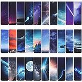 VETPW 30 Piezas Cielo Estrellado Marcadores de Libro Magnéticos, Magnetic Bookmarks Set, Aurora Luna...