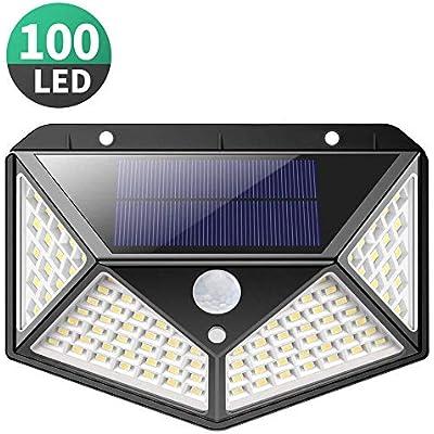 Solar Lights Outdoor Kilponen Upgraded 100 LED Solar Motion Sensor Security