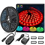 LED Strip Lights LED Lights Sync to Music, MINGER 9.8Ft LED Light Strip 150 LED Lights SMD 5050…