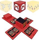 Nintendo Switch - Funda para tarjetas de memoria (16 ranuras para tarjetas de juego), color rojo