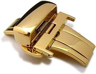 Fibbia deployante 20mm, 22mm, chiusura deployante 24mm, acciaio inossidabile placcato oro per cinturino in pelle