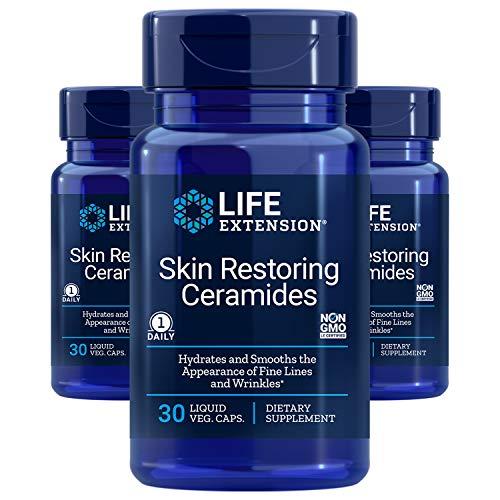 Life Extension Skin Restoring Ceramides, 30 capsules - Pack of 3