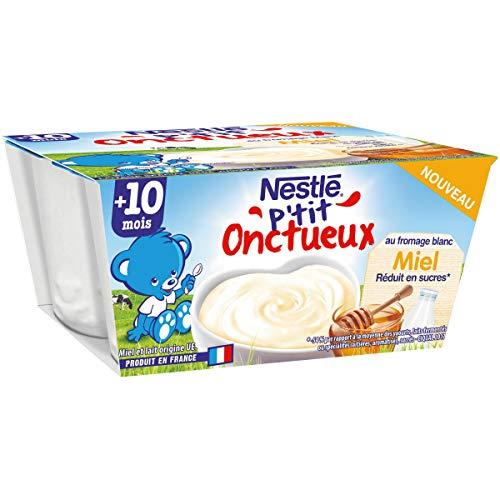 Nestlé Bébé P'Tit Onctueux Fromage Blanc Miel Dès 10 Mois 0.4 kg