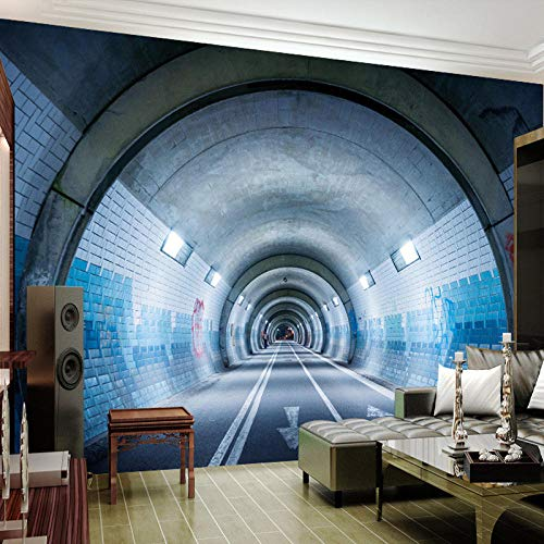 3D-Tapete für Wohnzimmer, abstrakte Kunst, 3D-Tunnel, Wandbild für Wohnzimmer, Schlafzimmer, Sofa, Fernseher, 150 x 105 cm