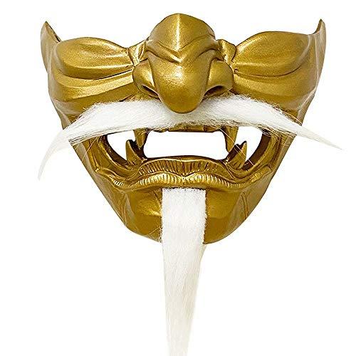 Tsushima Ghost Copertura Per Metà Viso Protezione Per Metà Viso Personaggio Del Gioco Samurai Jin Sakai Puntelli Cosplay Per Mostra Di Anime E Feste a Tema E Performance Sul Palco E Halloween