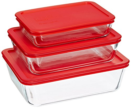 Pyrex rectangular glass 3-pack