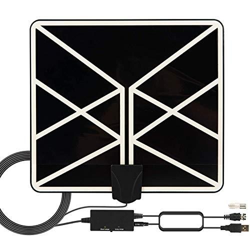 TV Antenne mit Verstärker Indoor DVB-T Antenne Fernseher HD Digital TV Antenne 4K 1080P HDTV Antennen