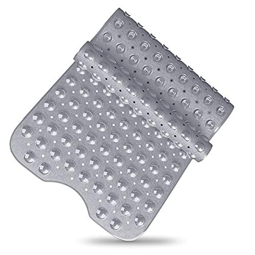 SilverRack Badewannenmatte DermaSensitivo 100% BPA frei (Grau) - Badewanneneinlage rutschfest 100x40 cm für Kinder und Baby - Duschmatte Antirutschmatte für sicheren Halt in der Badewanne