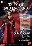Smiffys Costume Deluxe de Reine Médiévale, Rouge, avec Robe, Ceinture et coiffe Taille M