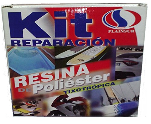 Plainsur - Kit De Reparacion Resina De Poliester Mas Fibra D