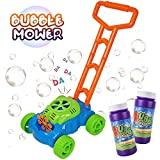 MOZOOSON Bubble Machine Toys for Toddlers, Bubble Lawn Mower Toy for Kids Age