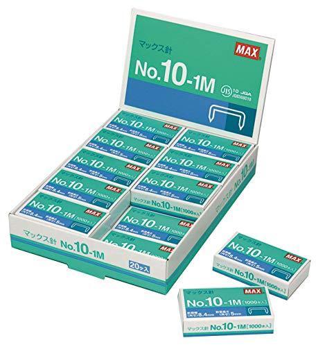 マックス ホッチキス針小型10号用1000本入×20個パック NO.10-1M 20P