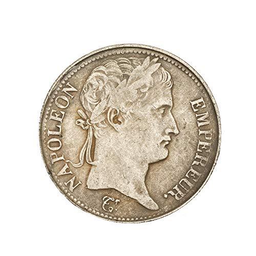 Eqerlian Silberdollar Silbermünze Antiksammlung Messing Versilbert Münze Frankreich 1812 Silbermünze 5 Franken Antikmünze Münzsammlung